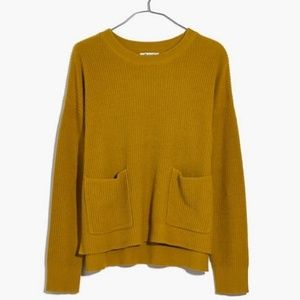 Madewell Patch Pocket Pullover Sweater Size S